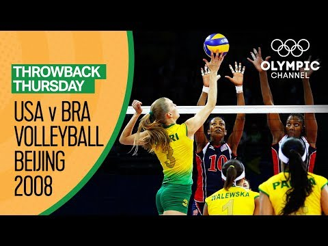 Brazil Women beat USA for their first Volleyball Gold | Beijing 2008 | Throwback Thursday