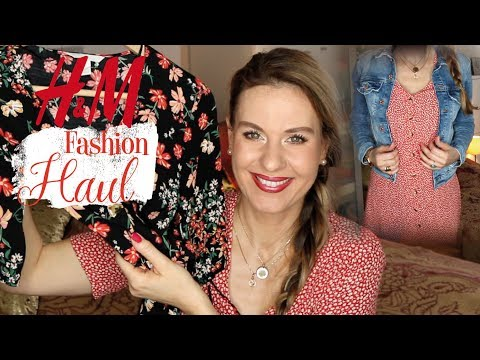 New in H&M 👗 Try on HAUL 👗 NEUE  Kleider * JEANSJACKE  I Amelie with Love