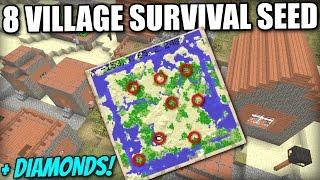 Minecraft PS4 / XBOX - 8 VILLAGES SURVIVAL SEED + DIAMONDS - PS3 / Wii U