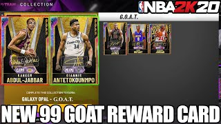 *new* 99 Stats Goat Galaxy Opal Reward Card For Completing The Goat Collection In Nba 20 Myteam