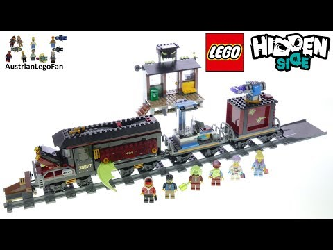 Vidéo LEGO Hidden Side 70424 : Le train-fantôme