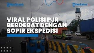 Viral Polisi Patroli Jalan Raya (PJR) yang Berdebat dengan Sopir Ekspedisi di Tol Jakarta-Cikampek