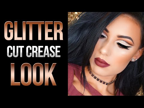 Glitter Cut Crease Fall MakeUp Look Victoria Lyn Beauty