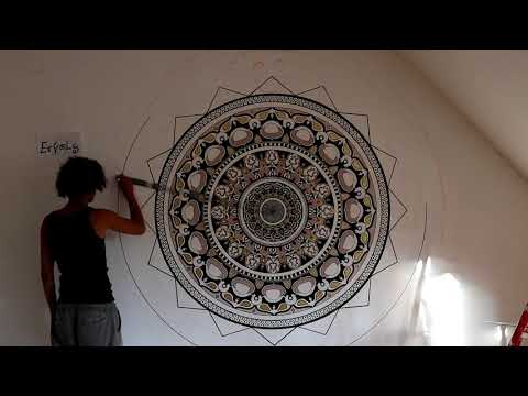 Mandala Wall art / Mandala Wand Malerei