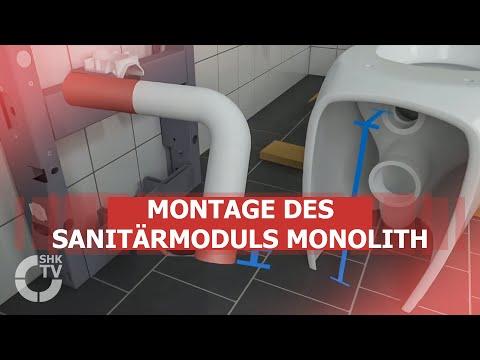 Geberit: Montage des Sanitärmoduls Monolith