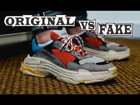 97287c1bf Balenciaga Vintage Triple S Trainer Grey Red Blue Original   Fake