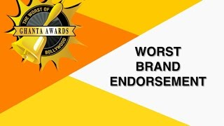 Worst Brand Endorsement By Neeti Palta  The Ghanta Awards 2016