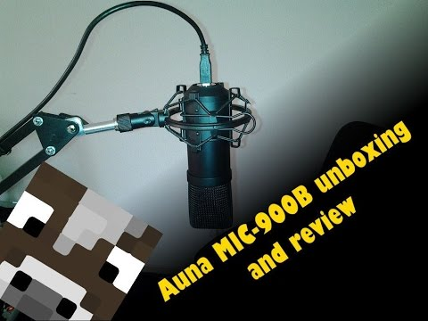 Auna MIC-900B USB Microphone Unboxing and Review