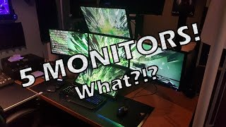 5 MONITORS! WHY?!? | 5th Monitor Setup Showcase
