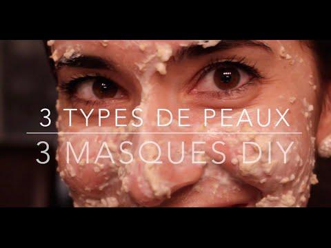 Le masque pour la personne du kaolin avec la marguerite