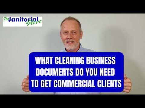 , title : 'What cleaning documents you need to get commercial clients