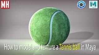 Maya tutorial : Model and texture a Tennis Ball in 3D ( full tutorial )