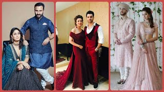 Latest Matching Couple Outfit Ideas 2020 | Reception Matching Bride Groom Dress Designs