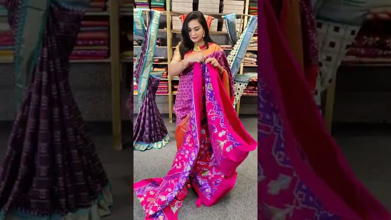 """<p style=""""color: red"""">Video : </p>DOUBLE IKKAT PATTU SAREES FROM MUGDHA FOR ORDERS 9949047889 2021-09-20"""