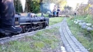 3.5インチライブスチーム国鉄型蒸気機関車の重連交換風景