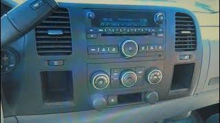 GMC Sierra Radio Removal