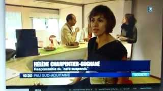 preview picture of video 'Café Suspendu Pyrénées Reportage du 18 juin 2014 France 3 Pau Sud-Aquitaine'