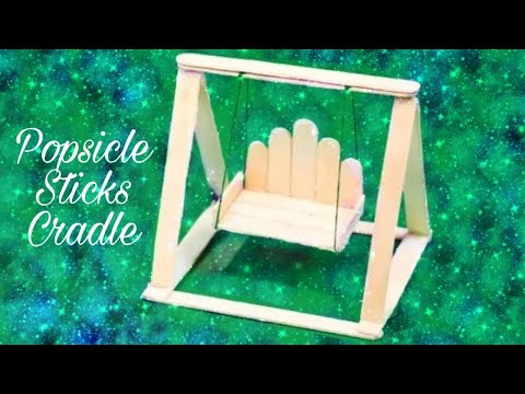 DIY miniature jhula | How to make Popsicle stick swing