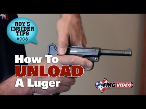 How To Unload A Luger
