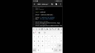 Python for Android - SL4A ( Button)