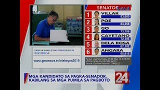 24 Oras: Mga kandidato sa pagka-senador, kabilang sa mga pumila sa pagboto | #Eleksyon2019