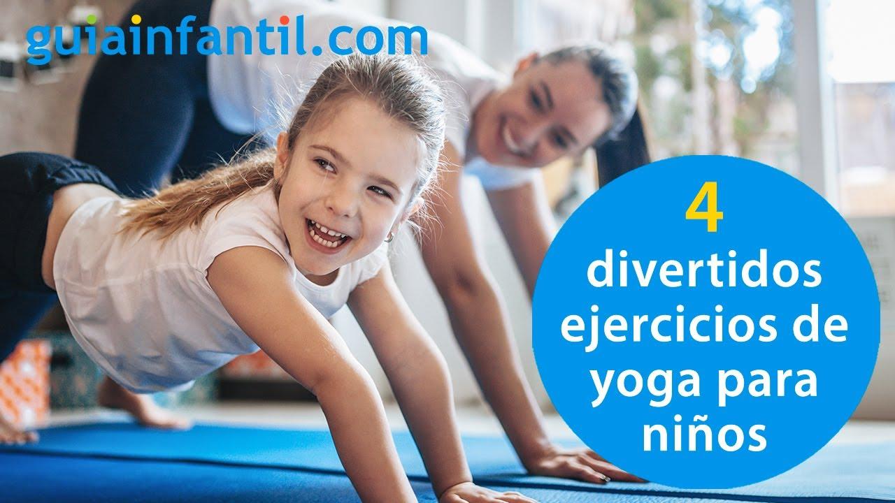 4 divertidos ejercicios de yoga para niños | Posturas o asanas sencillas para principiantes