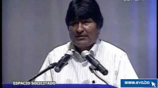 preview picture of video 'Evo Morales se reune con Empresarios Cruceños'