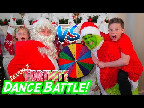 The Grinch vs Santa Claus Fortnite DANCE BATTLE!