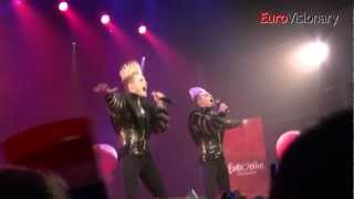Jedward - Waterline - Eurovision Song Contest - Ireland 2012 - From EIC Dancefloor