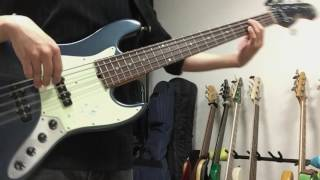【ナイツ&マジック OP】Hello!My World!!/fhána (bass cover)【藍】