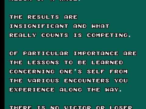 Enduro Racer (Usa) - Sega Mater System - ending