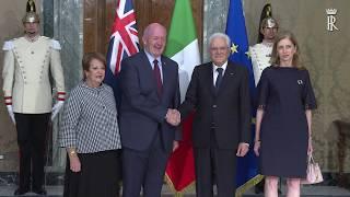 Il Presidente Mattarella riceve il Governatore Generale dell'Australia Peter Cosgrove