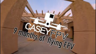 Parking lot Tree Flow - 9 months flying FPV