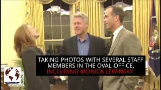 Bill Clinton taking photos with Monica Lewinsky in the Oval Office