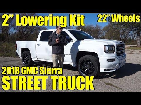 "2"" LOWERING KIT! 22"" WHEELS! 2018 GMC Sierra SCA Performance Street Truck!!"