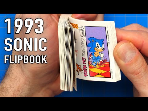 , title : 'Finding a 28 year old Sonic the Hedgehog Flipbook'