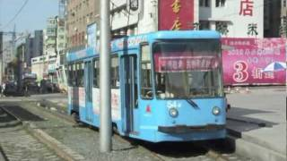 preview picture of video 'China Changchun Tram Train Video 長春軽軌LRTと市電(有轨电车)'