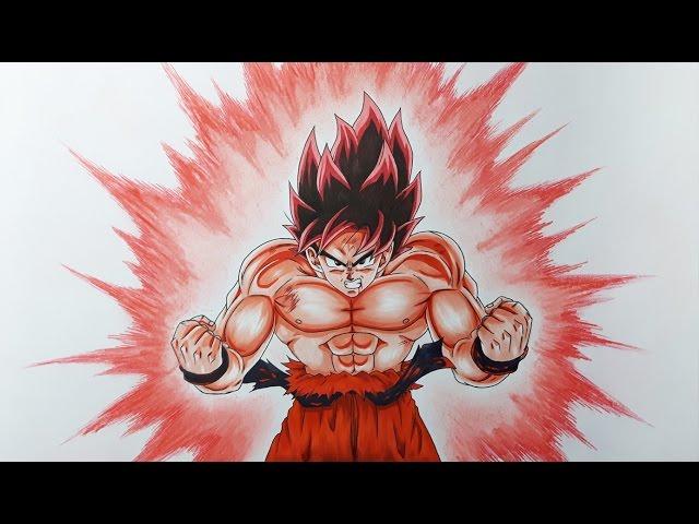 Drawing Goku Kaioken drawing goku super saiyan blue kaioken x10#
