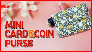 DIY/ MINI CARD & COIN PURSE / 미니 카드 & 동전지갑 만들기 / Sewing/ Tutorial [Tendersmile Handmade/ 텐더스마일]