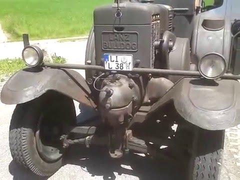 35 PS Eilbulldog Lanz Bulldog im Leerlauf