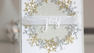 CHRISTMAS CARD: Glitter Snowflakes With Nuvo Sparkle Dust