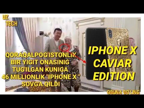 """QORAQALPOG'ISTONLIK YIGIT ONASIGA 46 MILLIONLIK $$$""""IPHONE X """"SOVG'AQILDI !!!"""