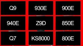 sony 940e. (side by side) q7f vs q9f ks8000 x900e x930e x940e sony 940e