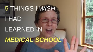 Youtube with Elizabeth Hughes LLC 5 Things I Wish I Had Learned In Medical School sharing on Stress Ideas Coaching For Women
