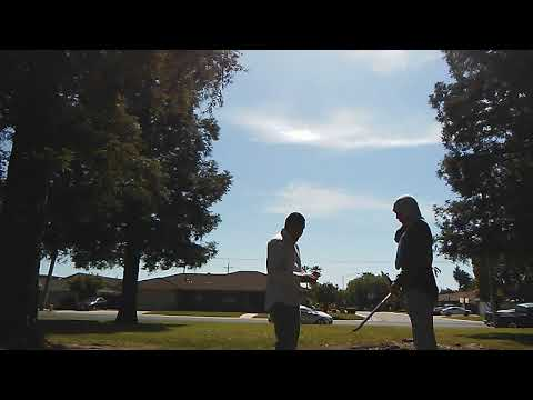 Teaching Filipino Martial Arts at the park 2019.  Stickfighting video.