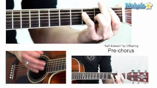 """How to Play """"Self Esteem"""" by Offspring on Guitar"""