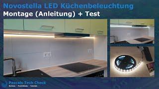 Novostella LED-Küchenbeleuchtung || Montage, Einbau (Anleitung) und Test