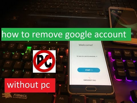 how to remove google account on samsung galaxy A5 2017 A5
