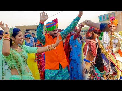 Khub nache Shadi me 👌 shadi wedding rajasthani shubh journey Dance Village Lunkaransar Bikaner
