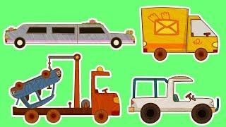 Мультики - МАШИНКИ - Все серии подряд - Фургон, Лимузин, Автокран и другие машинки